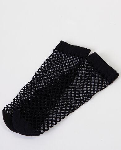 Calcetines de rejilla negro