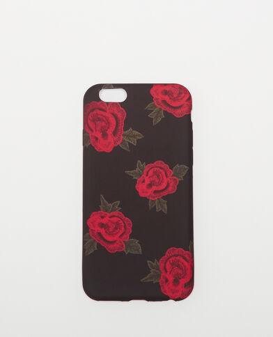 Soepel hoesje met bloemenprint zwart