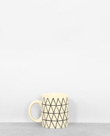Mug con stampa geometrica écru