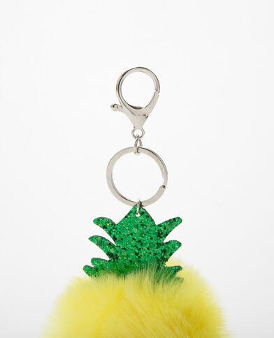 Ananas-Schlüsselanhänger Neongelb