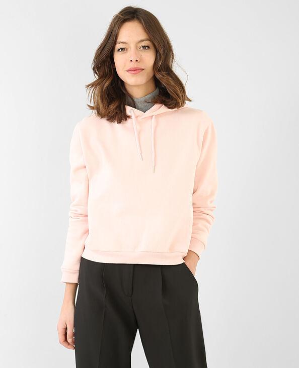 Sweater met kap oud roze