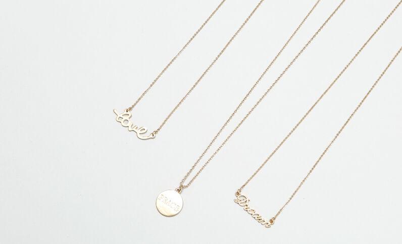 Lotto di collane con pendenti dorato