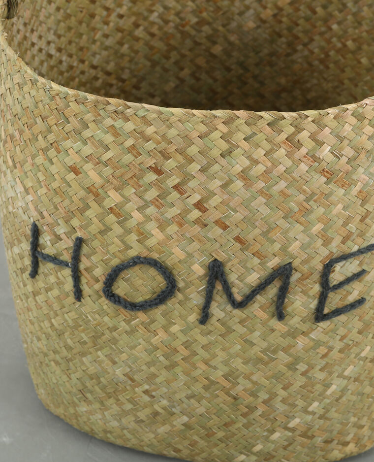 """Panier osier """"Home"""" brun"""