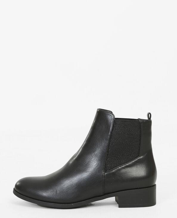 Chelsea-Boots mit Lurex Schwarz