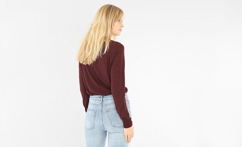 Leichter, einfacher Pullover Granatrot