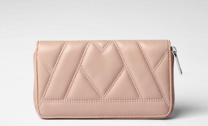 Geräumige Brieftasche im Stepp-Design Orange
