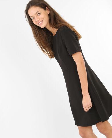 Skater-Kleid mit Reißverschluss am Rücken Schwarz