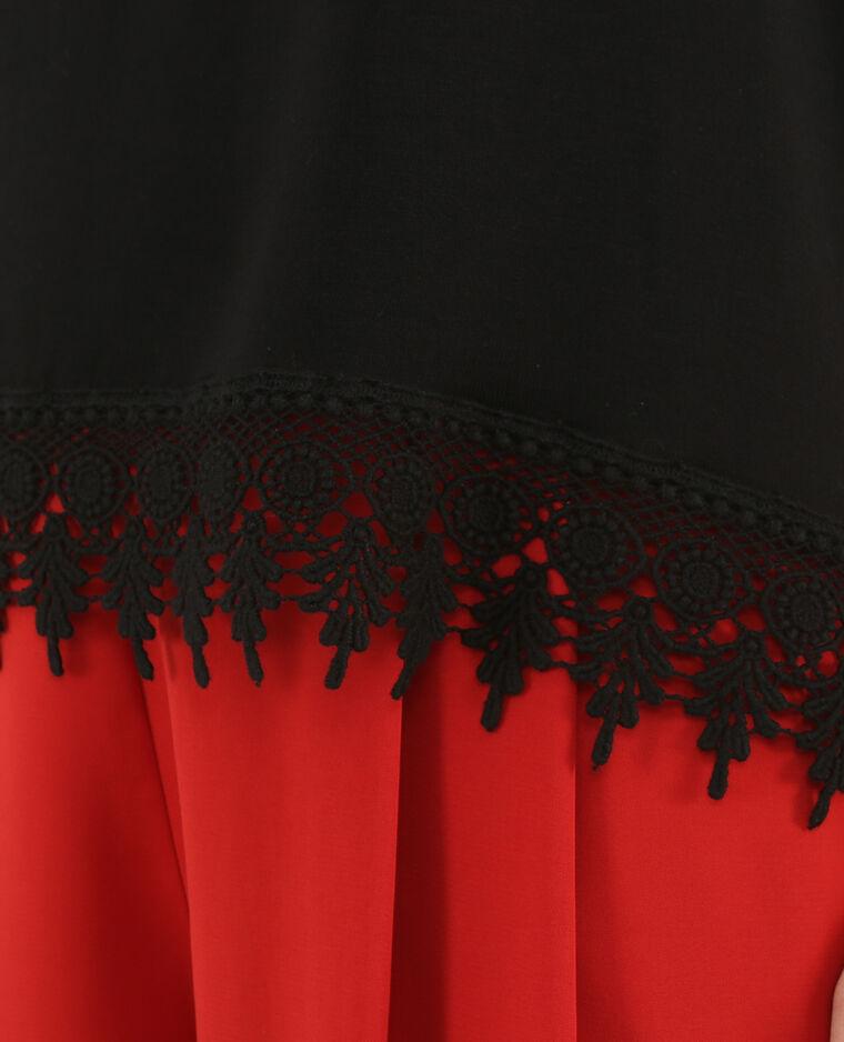 sommerkollektion shirts und tops spitzentops top mit spitze am saum. Black Bedroom Furniture Sets. Home Design Ideas