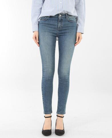 Jeans skinny push up blu delavato