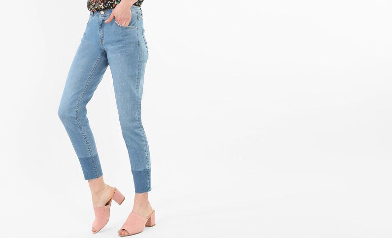 7/8-skinny jeans blauw