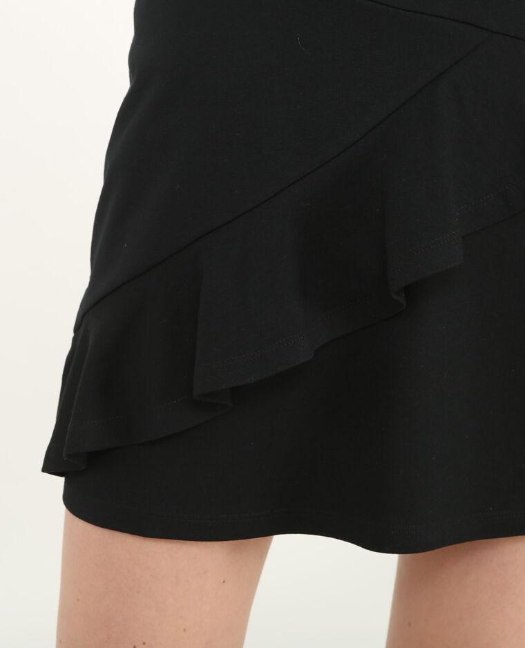 Mini jupe à volants noir