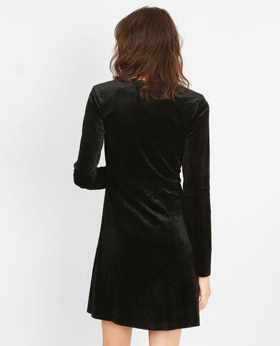 Kleid aus Velours Schwarz