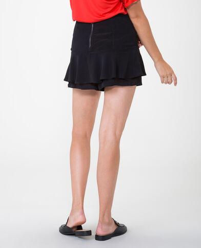 Shorts mit Volants Schwarz
