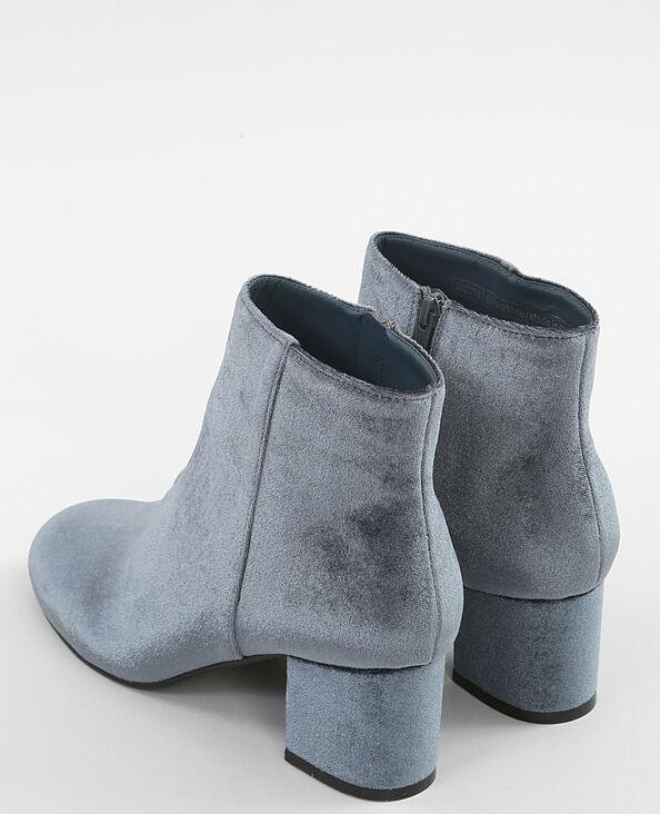 Boots velluto grigio