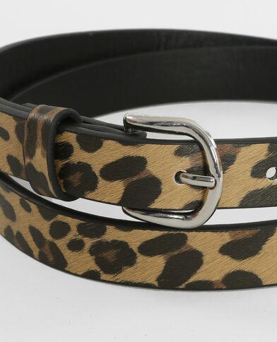 Ceinture léopard Beige