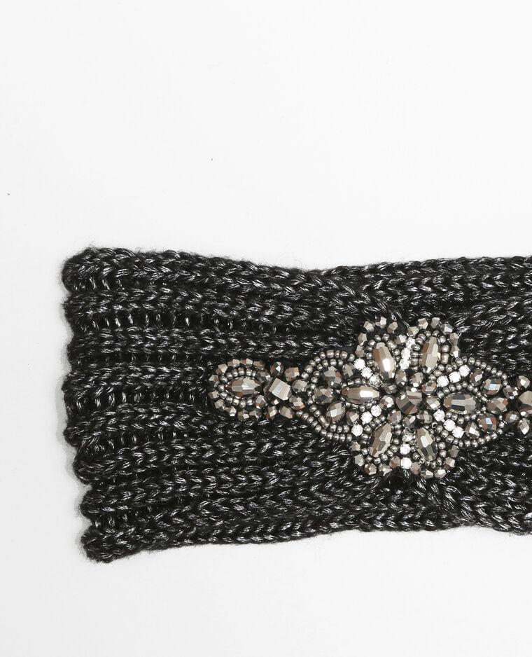 Haarband mit Schmuck-Elementen Schwarz