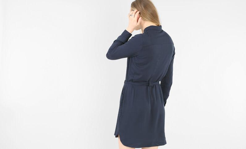 Robe chemise bleu marine