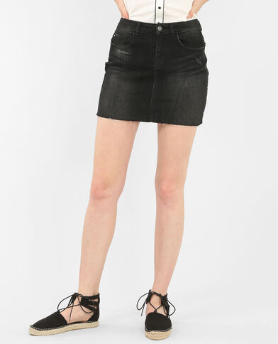 Minigonna denim nero