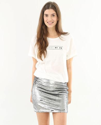 """Pailletten-Kleid """"2 in 1""""-Modell Weiß"""