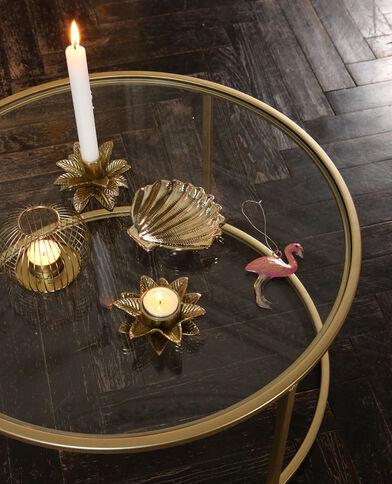 Kerzenhalter in Blattform Gold