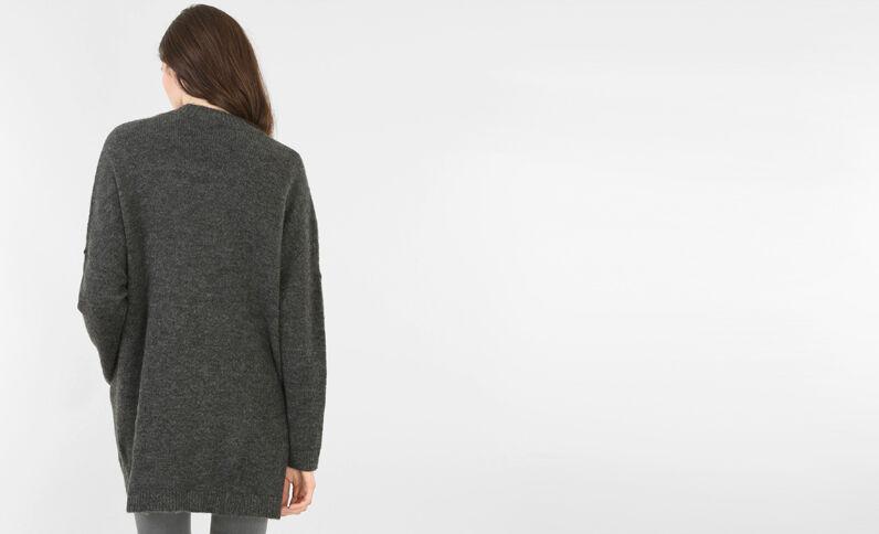 Chaqueta larga gris