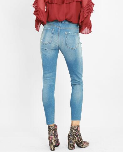 Destroyed skinny jeans verwassen blauw