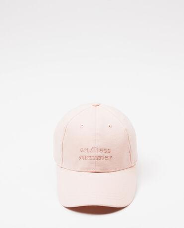 Gorra bordada rosa