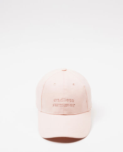 Cappellino ricamato rosa