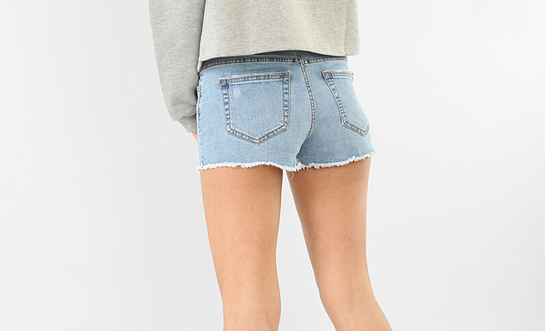 Shorts mini denim azul