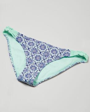 Parte inferior de biquini estampado mosaico Azul
