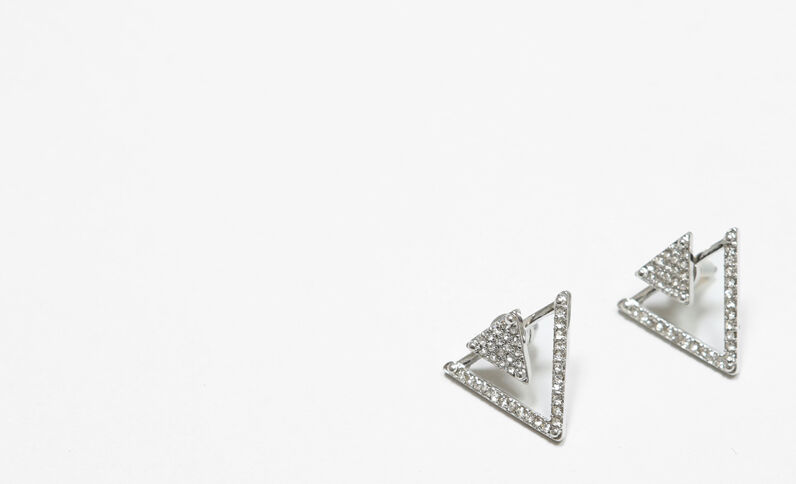 Ohrringe in Triangel-Form Silberig