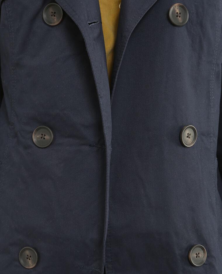 Einfacher Trenchcoat Marineblau