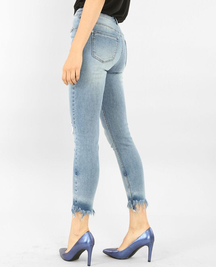 skinny jeans mit sen fransen blau 40 140357684a06. Black Bedroom Furniture Sets. Home Design Ideas