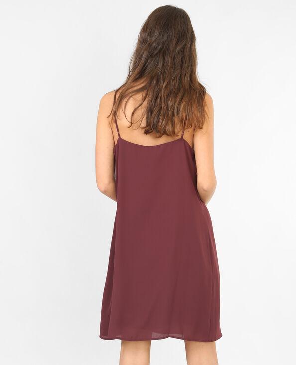 Negligé-Kleid Granatrot