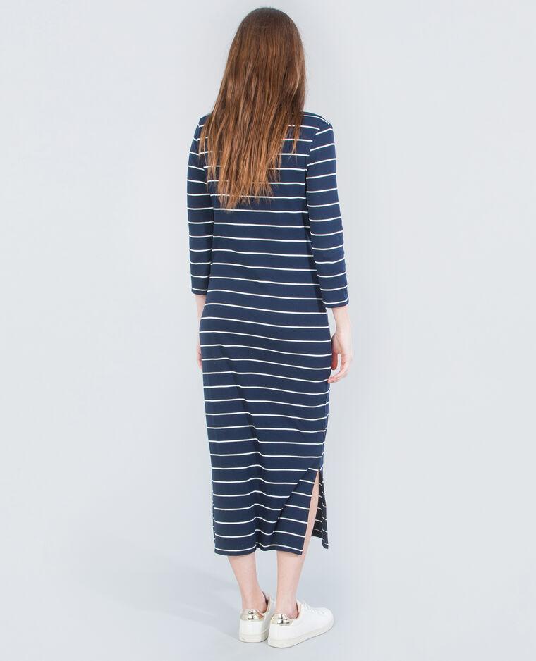 robe longue ray e bleu marine 782031635c09 pimkie. Black Bedroom Furniture Sets. Home Design Ideas