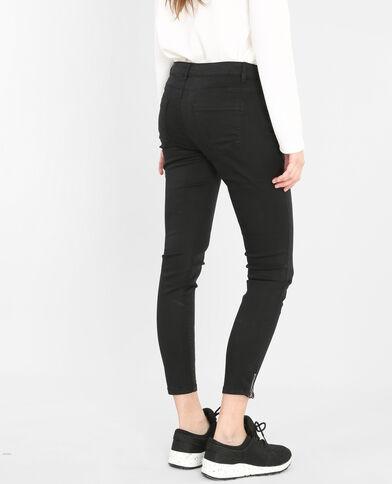 Skinny-Hose mit Reißverschluss Schwarz