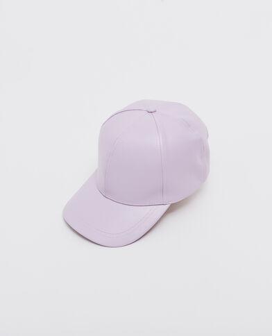 Casquette simili cuir violet