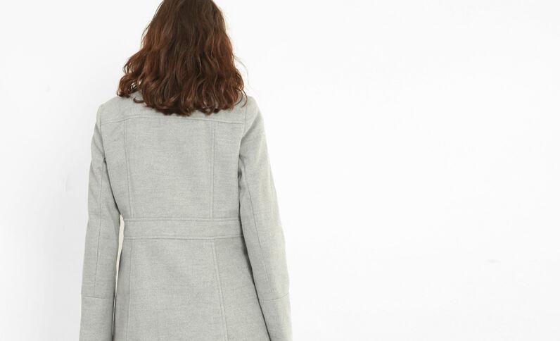 Mantel mit doppelter Knopfreihe Grau