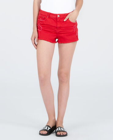 Short in jeans destroy Rosso