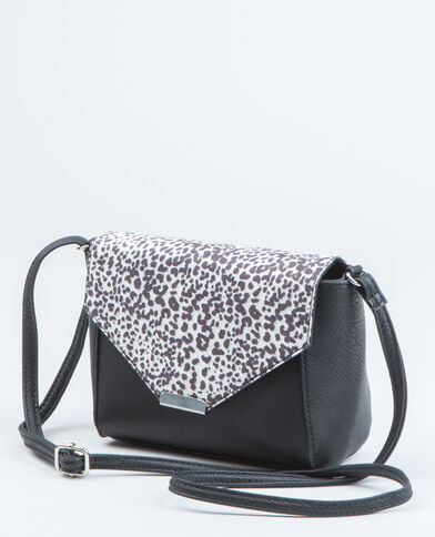 Sac boxy léopard noir