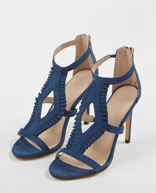 Sandaletten mit Absatz Blau