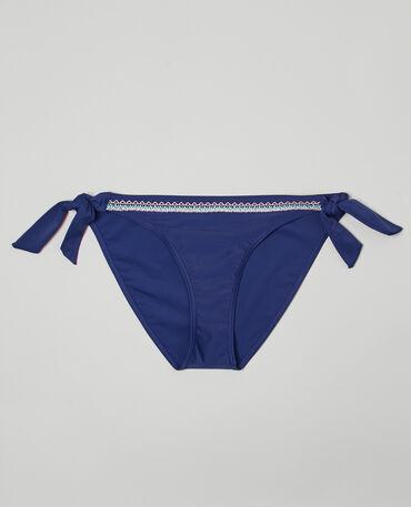 Culotte de bikini ethnique à nouer Bleu