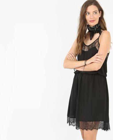 Kleid im Lingerie-Stil Schwarz
