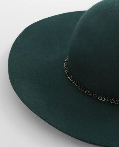 Capeline bijoux métal vert sapin