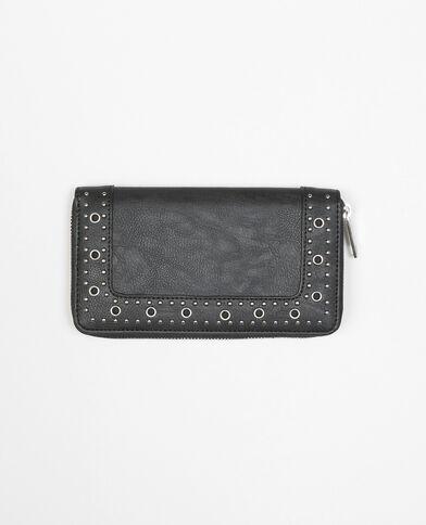 Portafoglio con borchie nero