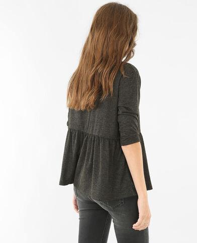 Peplum-T-Shirt Anthrazitgrau