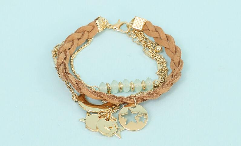 Armband aus mehreren Ketten Gold
