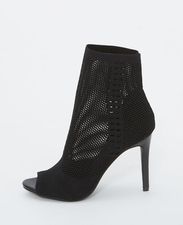 Sandalias de tacón alto negro