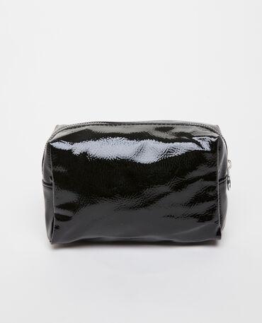 Trousse de maquillage vinyle noir