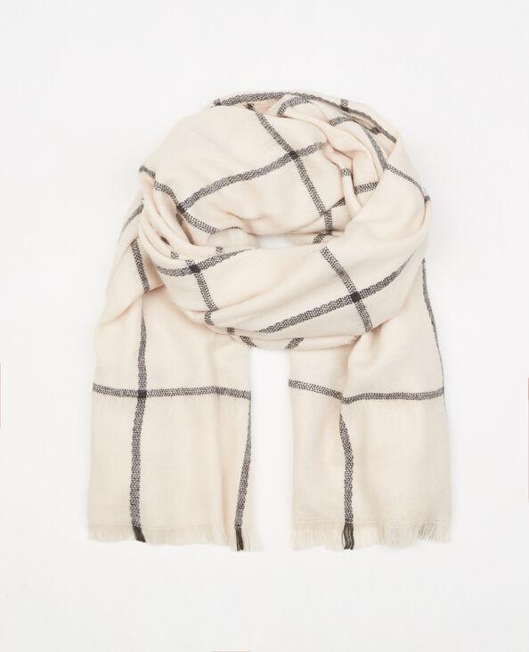 Plaid-Schal mit großen Karos Rosa